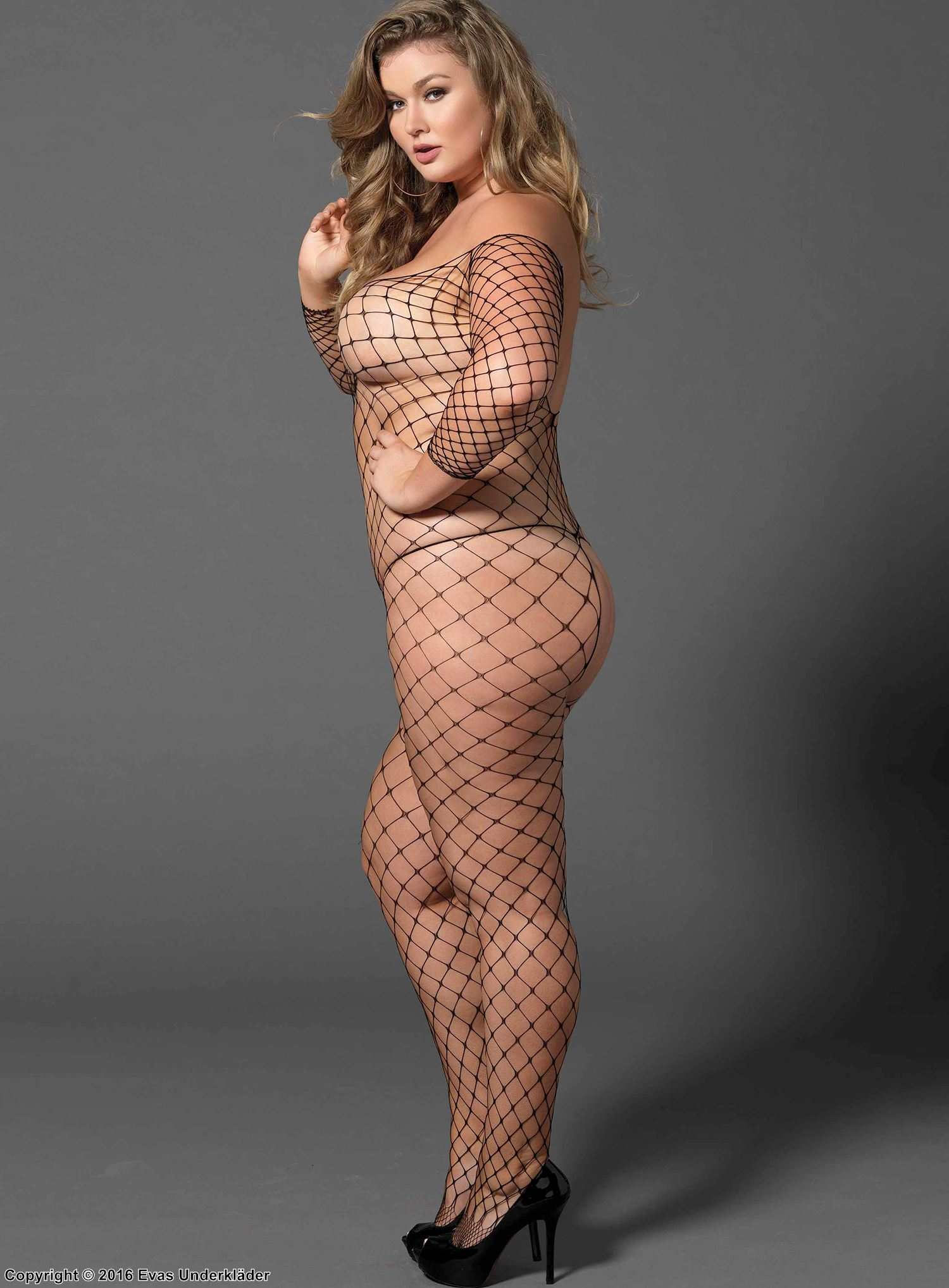 Off the shoulder bodystocking, plus size